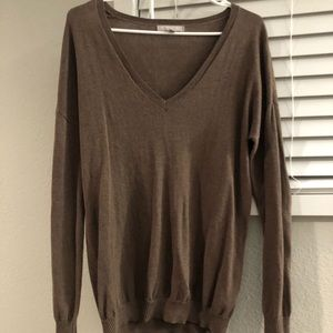Banana Republic brown and black sweater